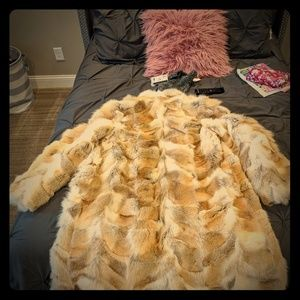 Jackets & Blazers - Full-length coyote fur coat